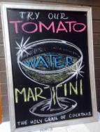 tomato martini sign
