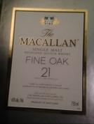 Mccallan scotch 21 year old