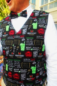 derby bartender vest and bow tie