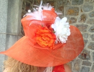 derby hat orange