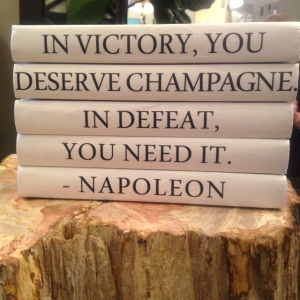 champagne victory book