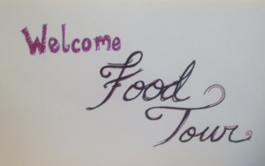 food tour sign