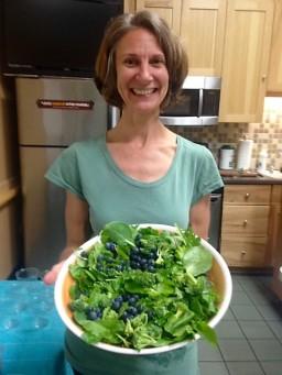 Christina with salad