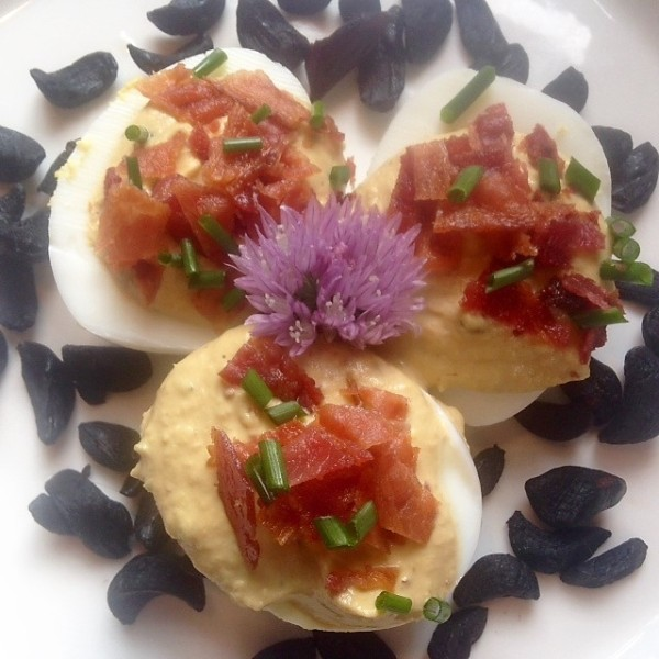 Deviled Eggs Black Garlic