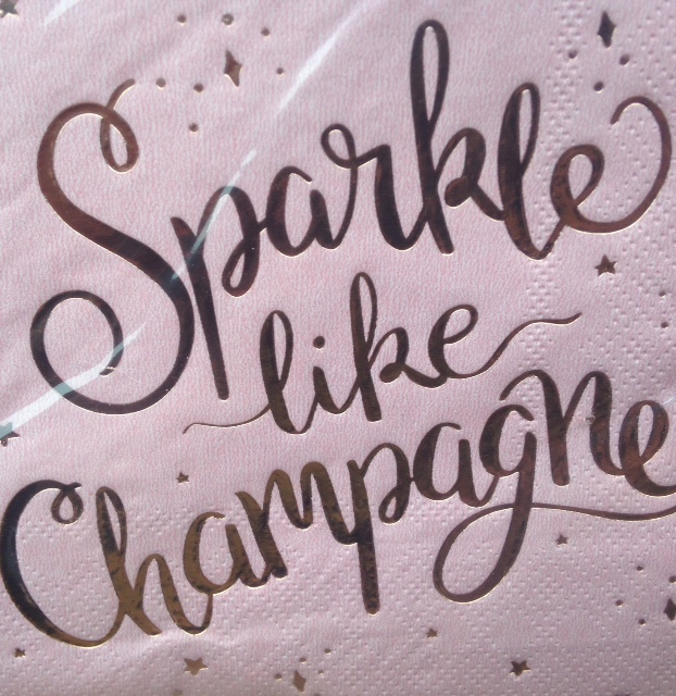 sign sparkle like champagne