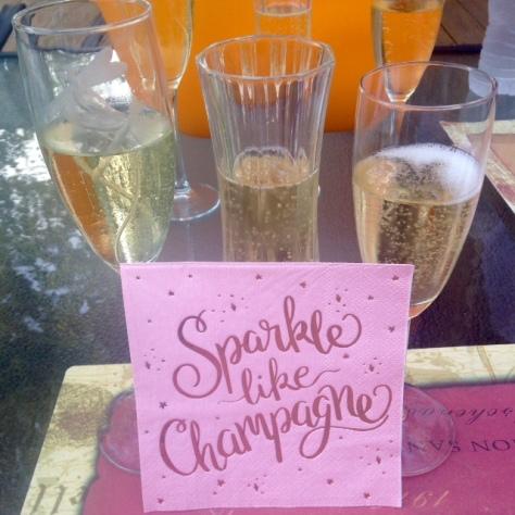 champagne napkin