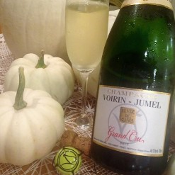champagne and pumpkin