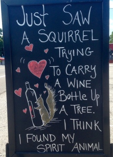 squirrel sign