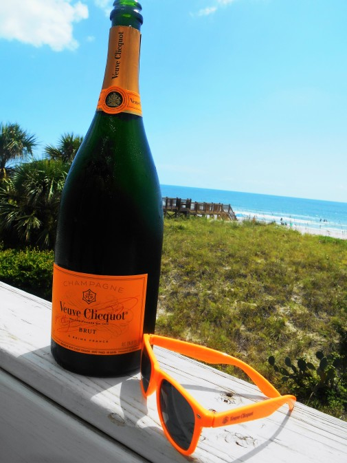 veuve at the beach