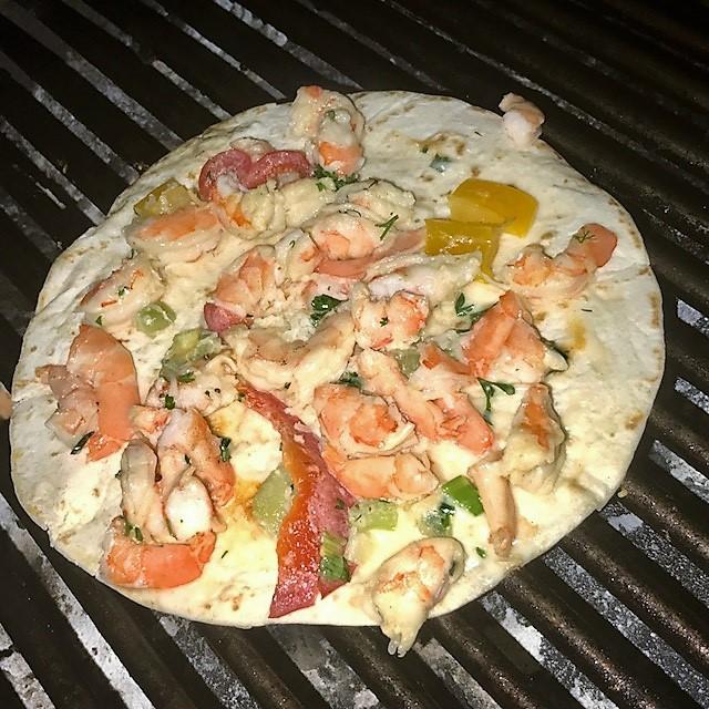 EF shrimp on grill