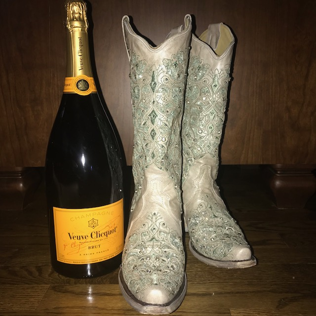 boots and champagne