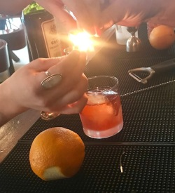 Fortunato cocktail fire