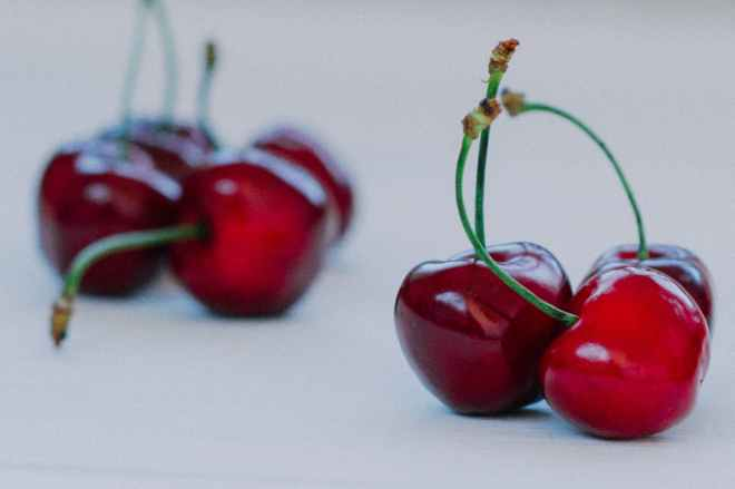 food cherries fruits sour